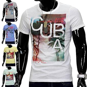 Men Cuba Rio T-Shirt short sleeve shirt Figurbetont clubwear slim fit urban