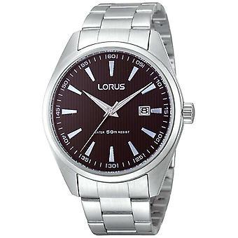 Lorus Mens Chunky Steel Black Dial Quartz RH999CX9 Watch