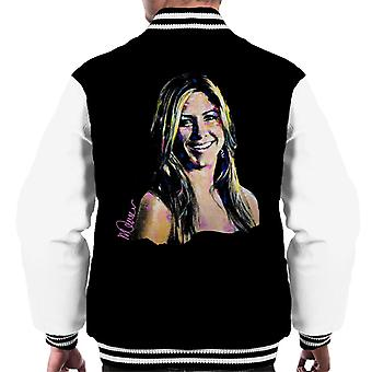 Sidney Maurer Original Portrait Of Jennifer Aniston Men's Varsity Jacket