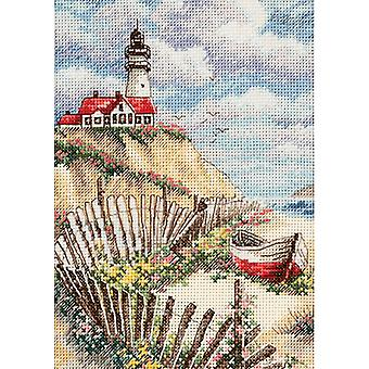 Gold Petite Cliffside Beacon gezählt Cross Stitch Kit-5