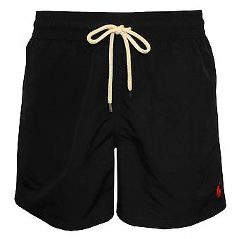 Polo Ralph Lauren Traveller Swim Shorts, Polo Black W/red