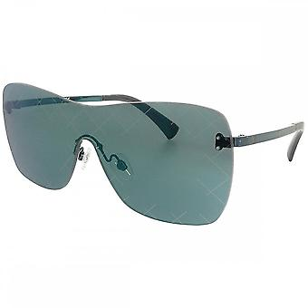 Chanel Chanel Ex-Display Ladies Runway Shield Rimless Sunglasses With Blue Mirror Lenses