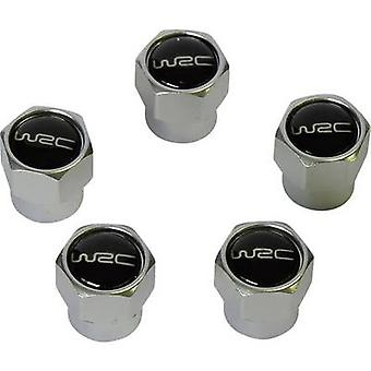 Unitec Valve dust cap 5-piece set Silver, Black