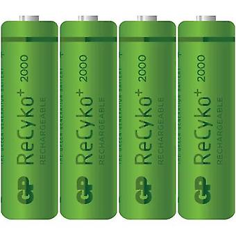 GP Batteries ReCyko+ AA battery (rechargeable) NiMH 2000 mAh 1.2 V 4 pc(s)
