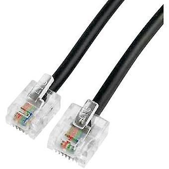 ISDN Cable [1x RJ45 8p4c plug - 1x RJ11 6p4c plug] 6 m Black