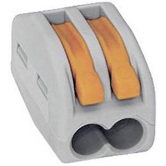 WAGO 222-412 Connector clip flexible: 0.08-4 mm² rigid: 0.08-2.5 mm² Number of pins: 2 1 pc(s) Grey, Orange
