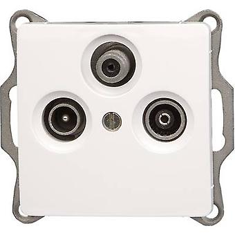 Kopp Insert TV, Radio, SAT socket Paris White