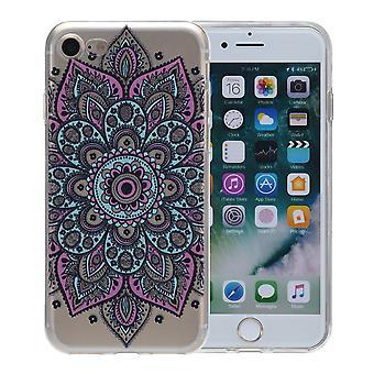 Cubierta de la henna para tatuaje colorido de Apple iPhone 7 funda protectora de silicona