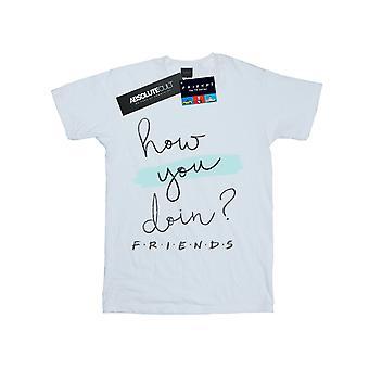Friends Girls How You Doin? Handwriting T-Shirt