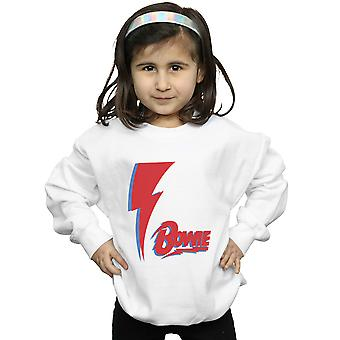 David Bowie Girls Red Bolt Sweatshirt