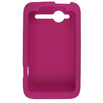 OEM HTC Silicone Case for HTC Wildfire 6225 CDMA - Raspberry