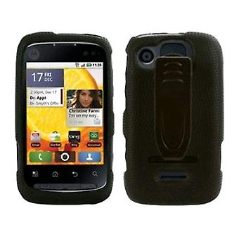 Body Glove Snap On Cover with Belt Clip for Motorola Citrus WX445 - Black