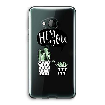 HTC U Play Transparent Case (Soft) - Hey you cactus