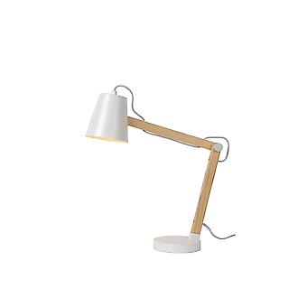 Lucide TONY Quirky White Natural Material Desk Lamp