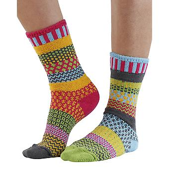 Freesia recycled cotton multicolour odd-socks   Crafted by Solmate