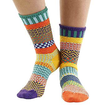 Forget Me Not recycled cotton multicoloured odd-socks   By Solmate