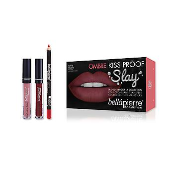 Bellapierre Kiss Proof Ombre Slay Kit - 40s Red