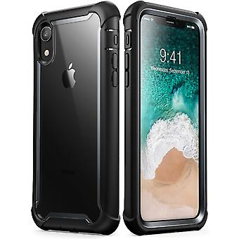 iPhone XR Case, [Ares] Full-Body Rugged Clear Bumper Case with Built-in Screen Protector (2018 Release)(Black)