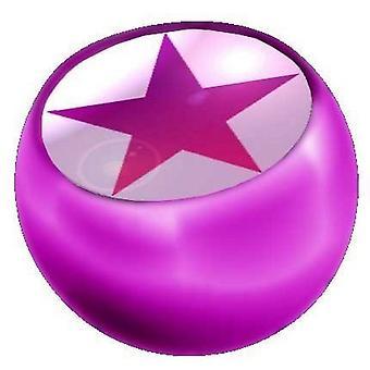 Recambio bola rosa, joyería del cuerpo, estrella de piercing | 1, 6 x 5 y 6 mm