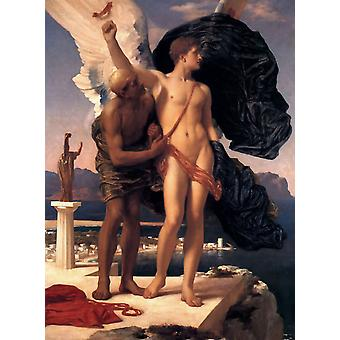 Daedalus and Icarus,Lord Frederic Leighton,50x40cm