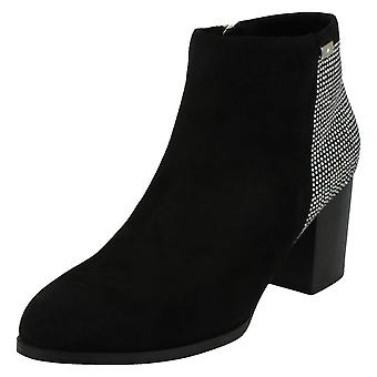 Anne Michelle Womens/Ladies Block Heel Ankle Boots