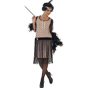 20er Jahre Coco Flapper Kostüm, UK Kleid 8-10