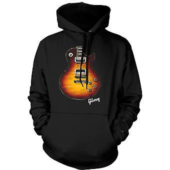 Bluza męska - Gold gitara Gibson Les Paul - muzyka