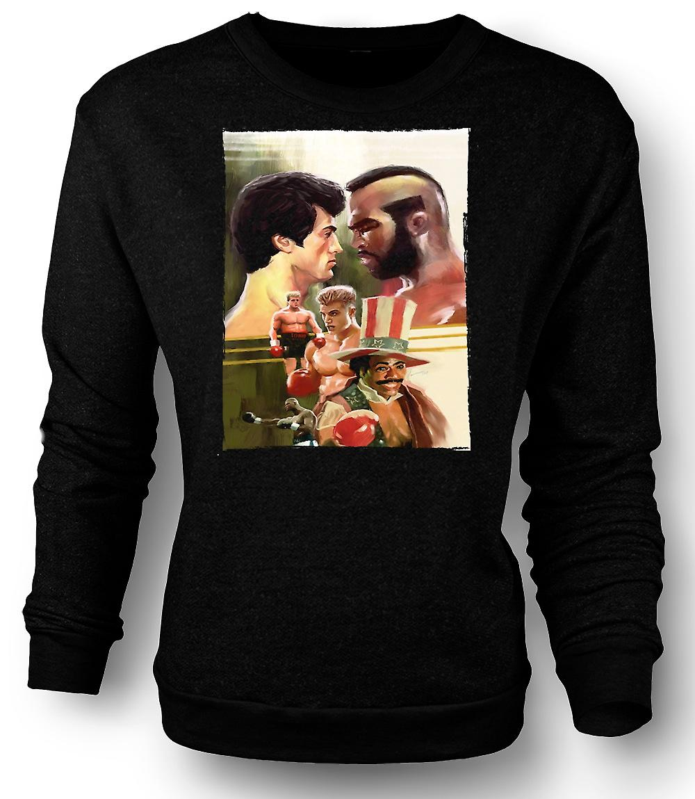 Mens Sweatshirt Rocky - Boxing Movie - Collage