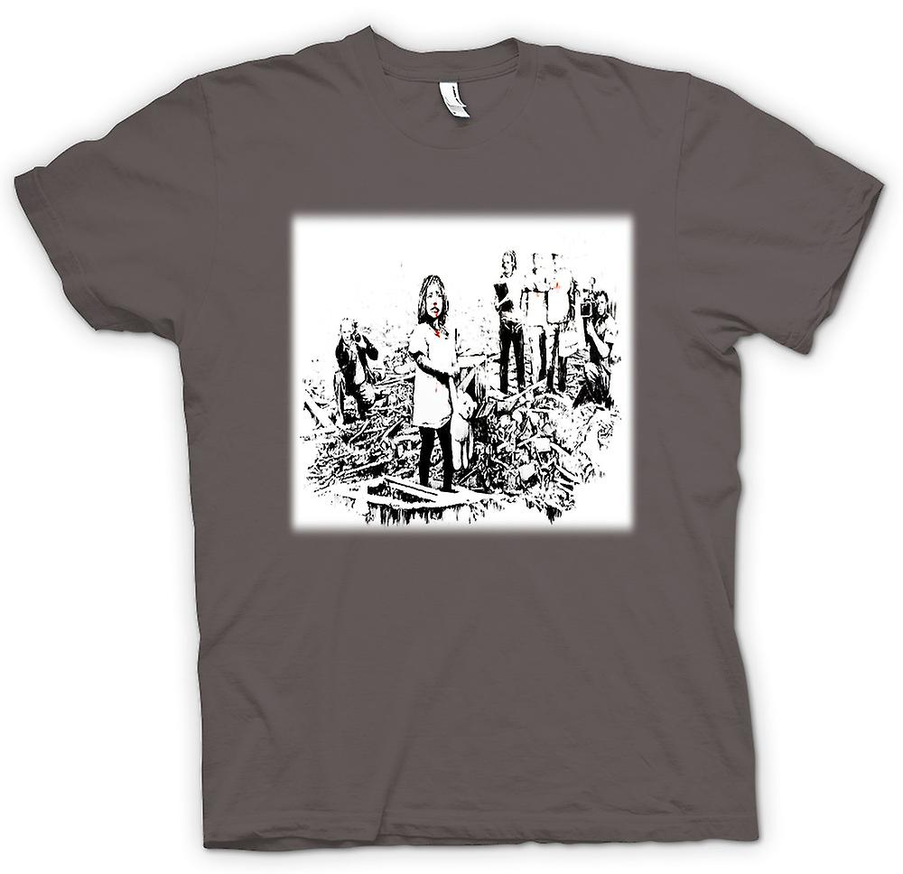 Womens T-shirt - Banksy Disaster - Design