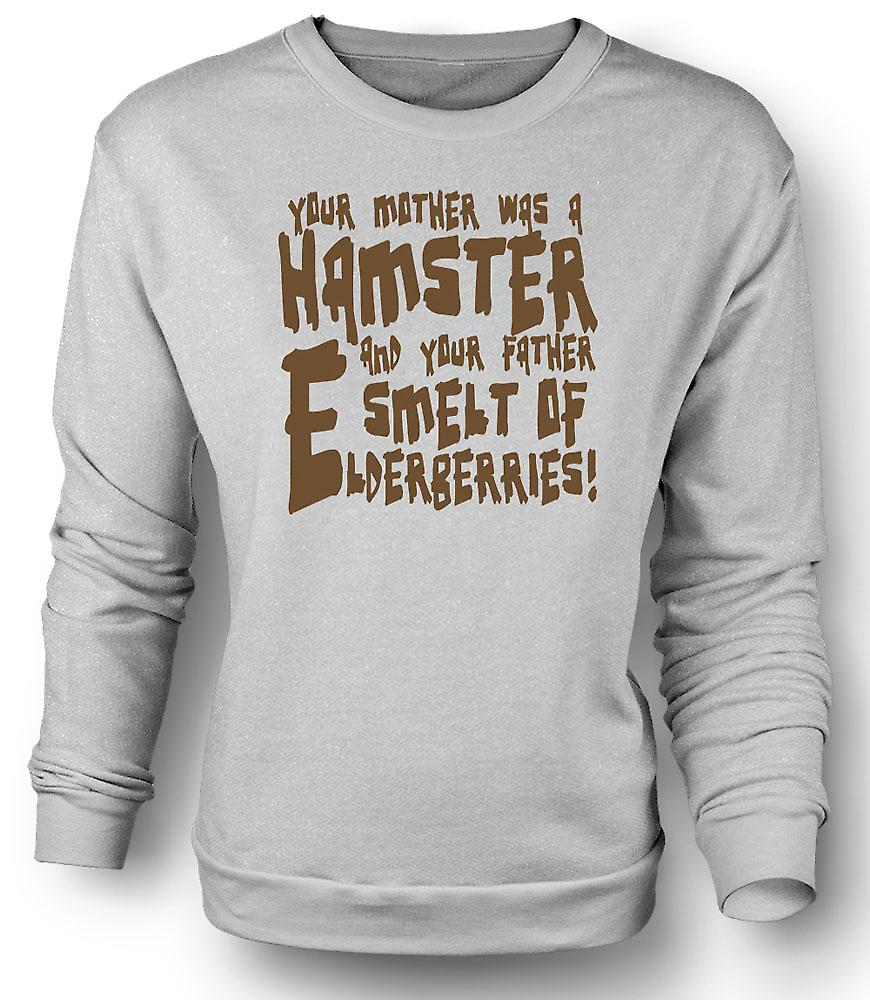 Mens Sweatshirt Your mother was a hamster - Funny Quote