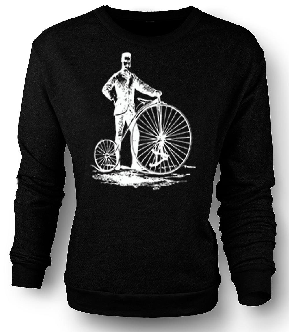 Mens Sweatshirt Penny Farthing Classic Bicycle