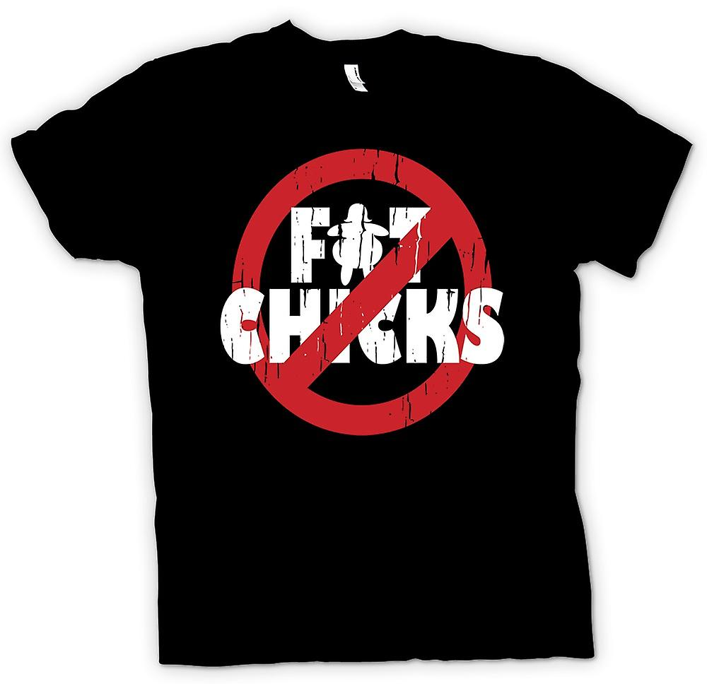 Womens T-shirt - ingen Fat Chicks - roliga råolja