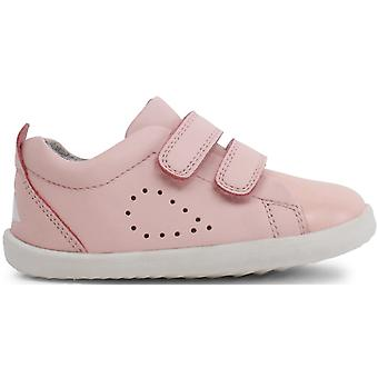 Bobux Step Up Girls Grass Court Shoes Seashell Pink