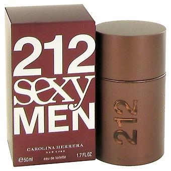 212 sexy por Carolina Herrera Eau De Toilette Spray 1.7 oz/50 ml (hombres)