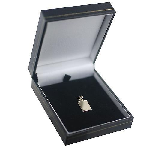 9ct Gold 12x10mm rectangular St Christopher Pendant or Charm