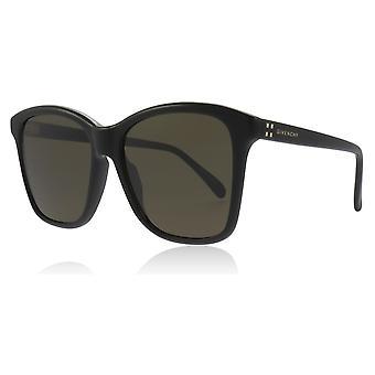 Givenchy GV7108/S 807 Black GV7108/S Square Sunglasses Lens Category 3 Size 55mm