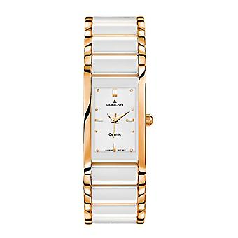 Dugena 4460590-wrist watch for women, ceramics, color: white