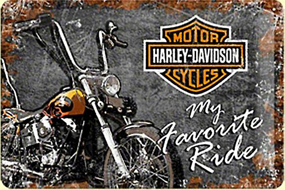 Harley Davidson My Favourite Ride embossed steel sign  (na2030)