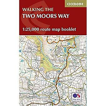 Two Moors Way Map Booklet:� 1:25,000 OS Route Mapping