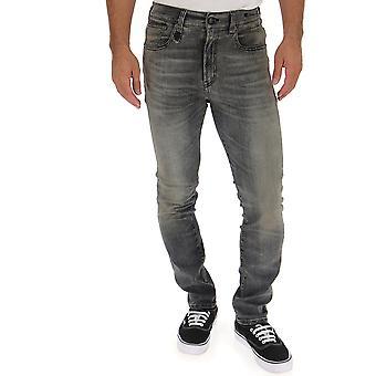 R13 Grey Cotton Jeans
