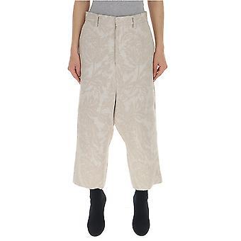 Junya Watanabe White Silk Pants