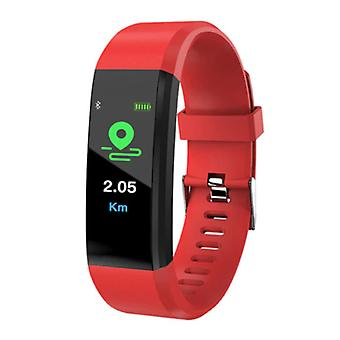 Stuff Certified® Original ID115 plus Smartband sport SmartWatch smartphone Watch iOS Android rood