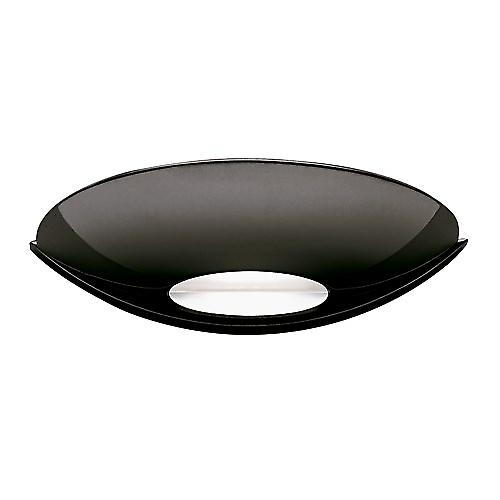 Searchlight 1107BC Slice Modern Black Chrome Halogen Uplighter Wall Light