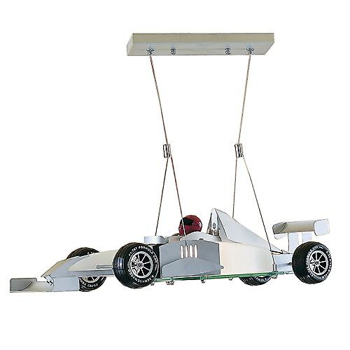 Searchlight F1 Novelty Racing Car Glass Pendant Light Perfect For Children