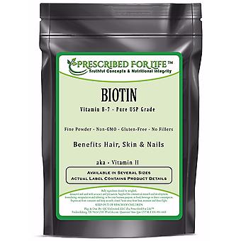 Biotin - Pure USP Grade Vitamin B-7 (Vitamin H) Powder