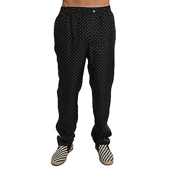 Lounge Black Polka Dot Pajama Pants -- PAN6365936