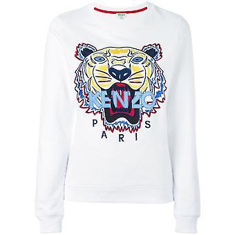 Kenzo weißen Baumwoll Sweatshirt