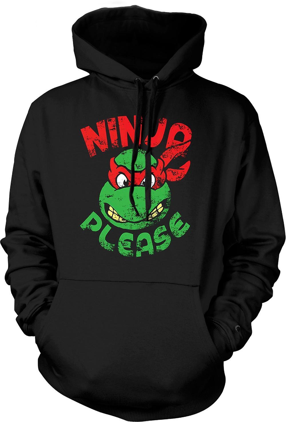 Mens Hoodie - Ninja Please - Raphael