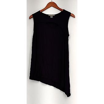 Kate & Mallory Top Sleeveless Tank Top Overlay Frt Dtl & Asyme Purple A433626