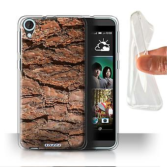 STUFF4 Gel/TPU Case/Cover for HTC Desire 820G+ Dual/Layered/Brown/Tree Bark